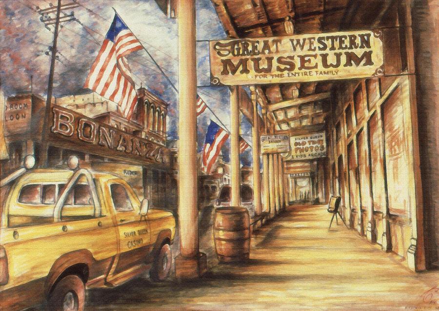 Virginia City Painting - Virginia City Nevada - Western Art Painting by Peter Potter