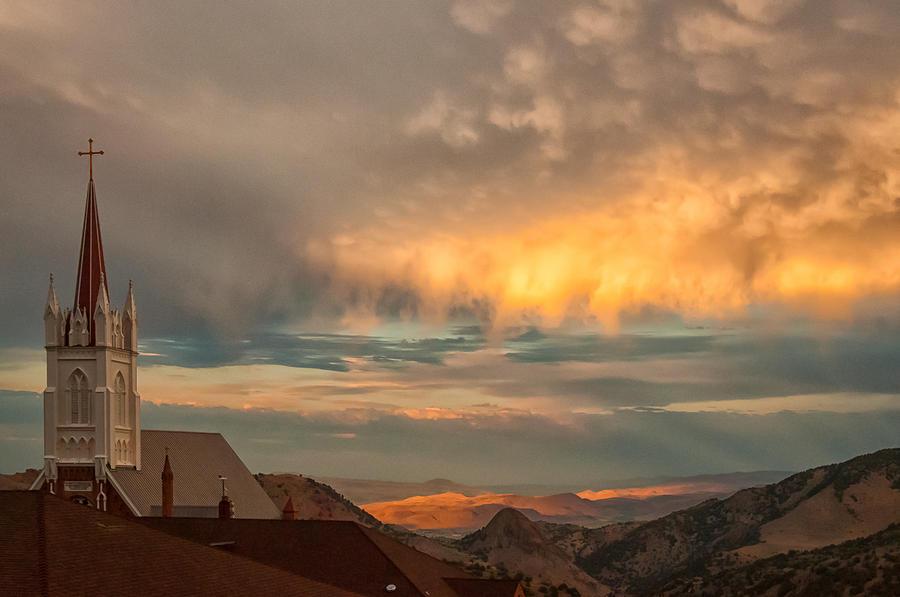 Virginia City Photograph - Virginia City Sunset by Janis Knight