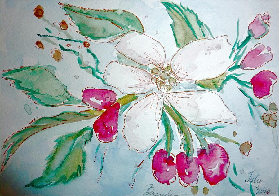 Floral Painting - Virginia Dogwood by Brenda Ruark