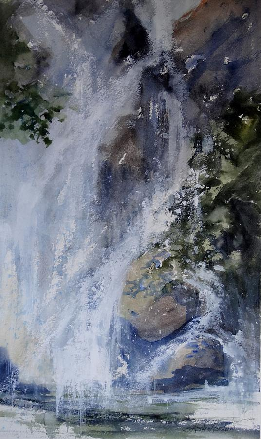 Waterfall Painting - Virginia Falls by Sandra Strohschein
