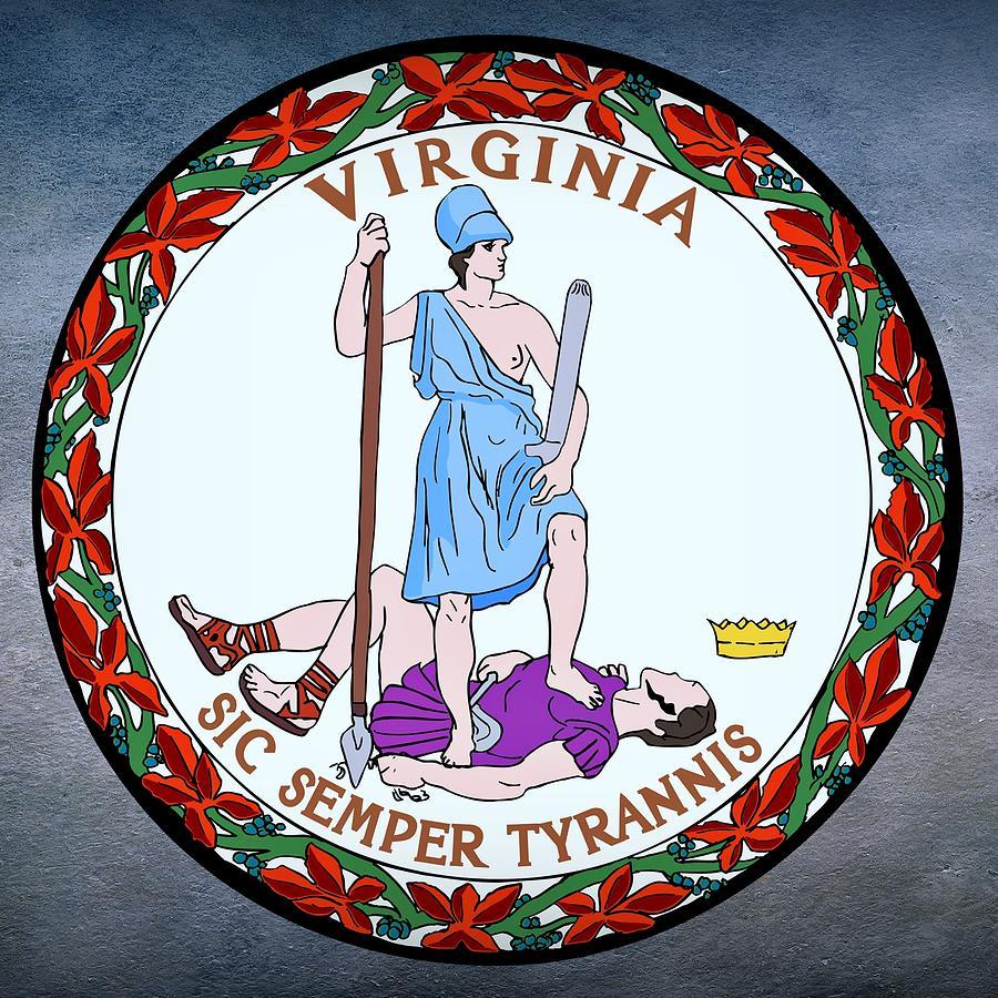 Virginia Digital Art - Virginia State Seal by Movie Poster Prints