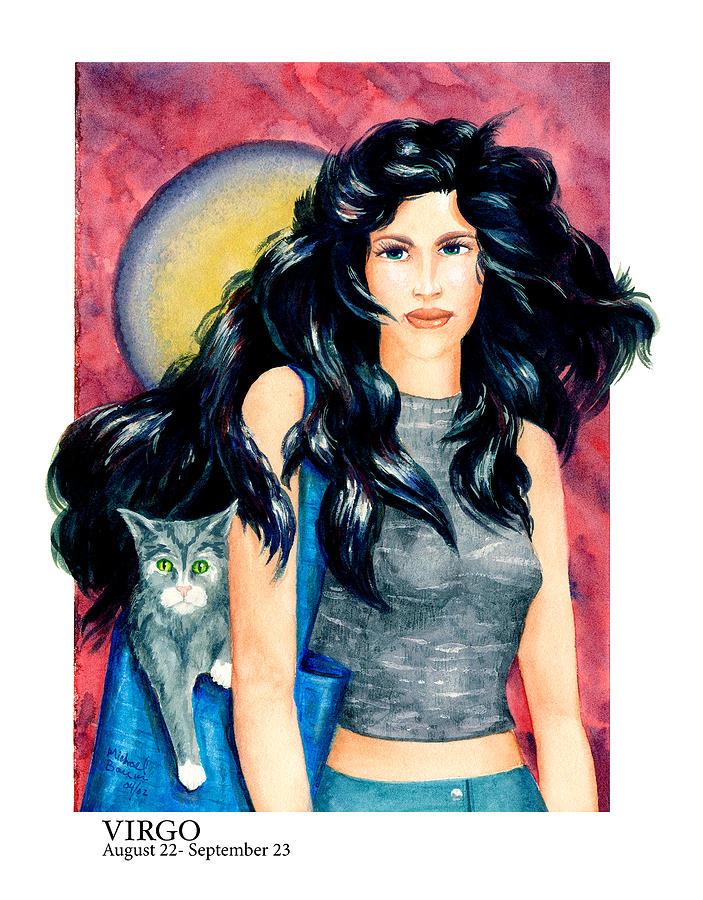 Zodiac Painting - Virgo by Michael Baum