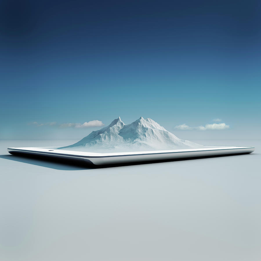 Virtual Travel On A Tablet Pc Photograph by Hiroshi Watanabe