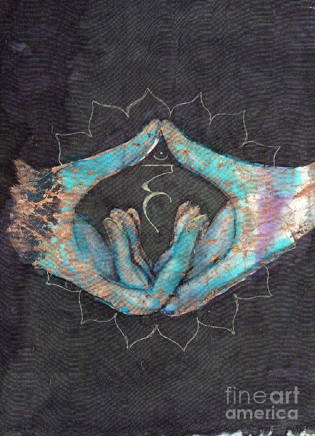 Vishuddha - Throat 'blue Hand' Chakra Mudra by Silk Alchemy