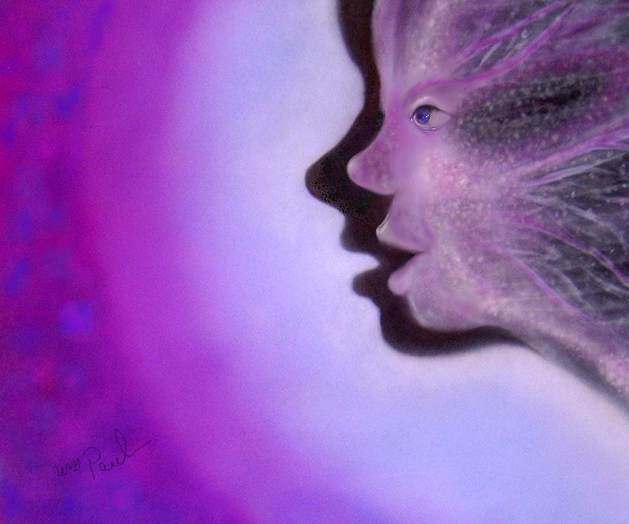 Twin Souls Mixed Media - Visionaries Twin Souls by William  Paul Marlette