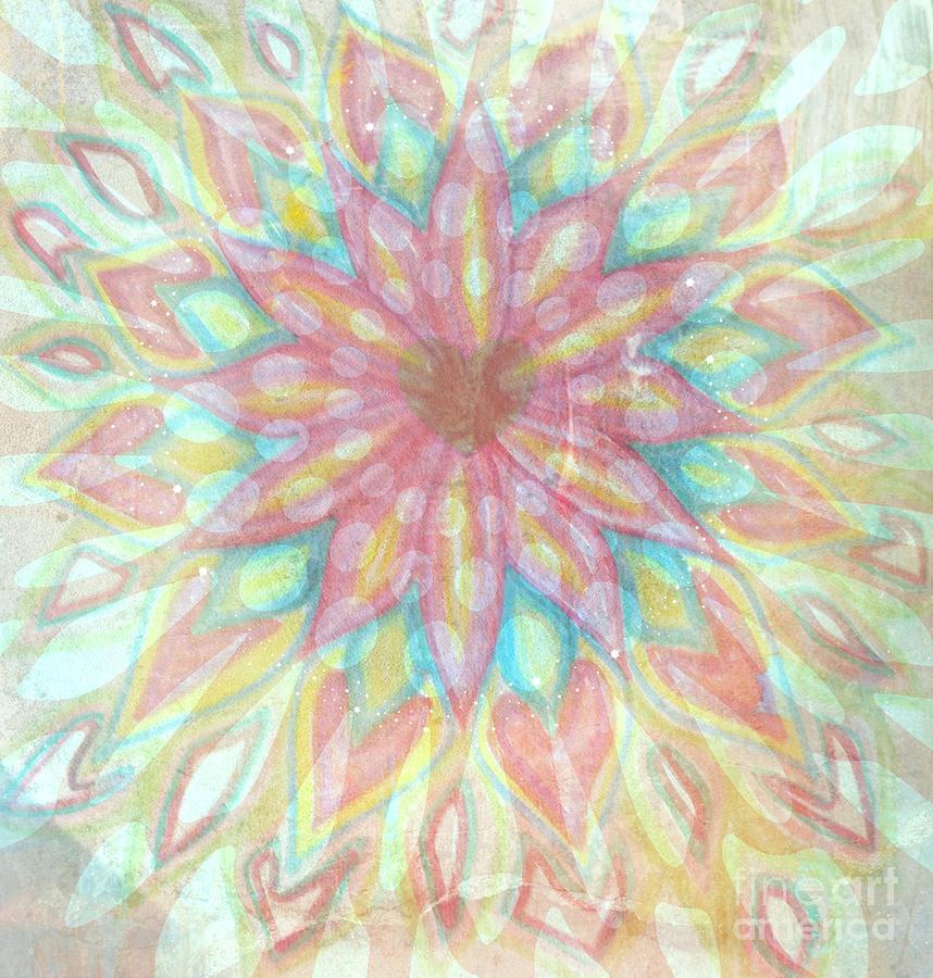 Visionary Painting - Visionary Crown Chakra by Sacred  Muse