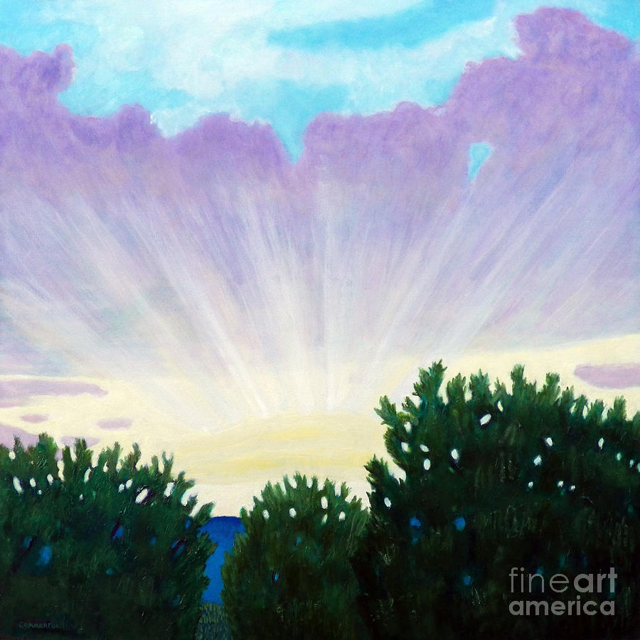 Skyscape Painting - Visionary Sky by Brian  Commerford