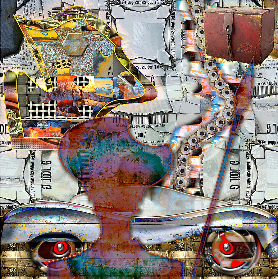Don Quijote Painting - Visiones Experienciales De Don Quijote by Ramon Rivas - Rivismo
