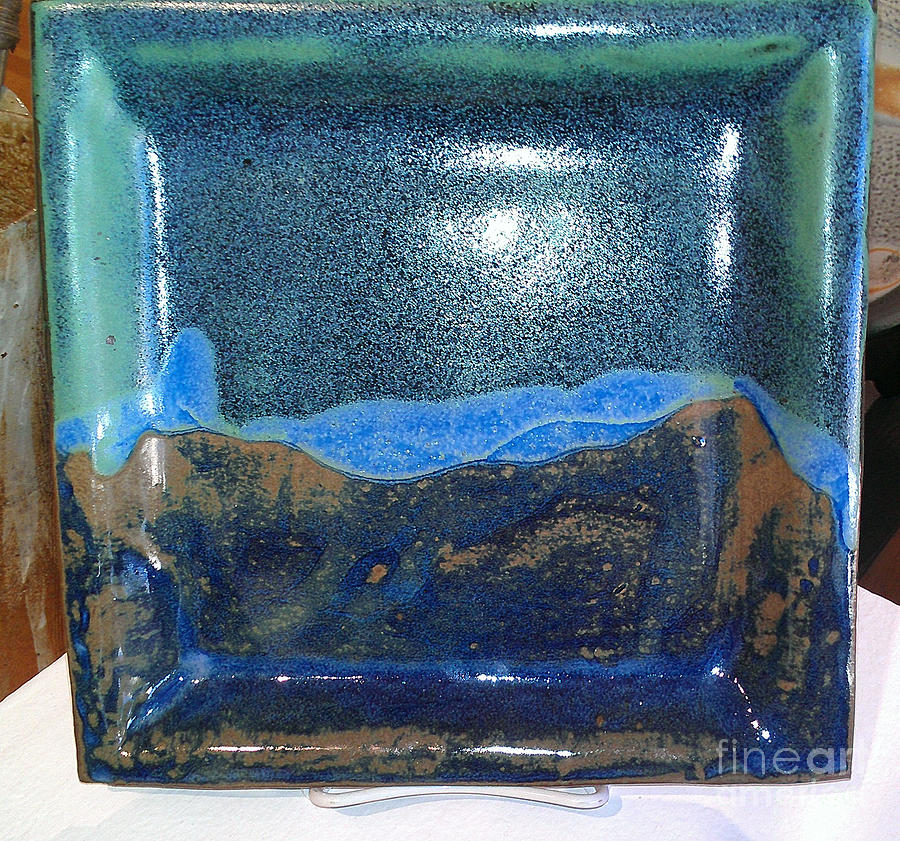 Ceramic Plate Ceramic Art - Visions Of The West by Lyras Prism
