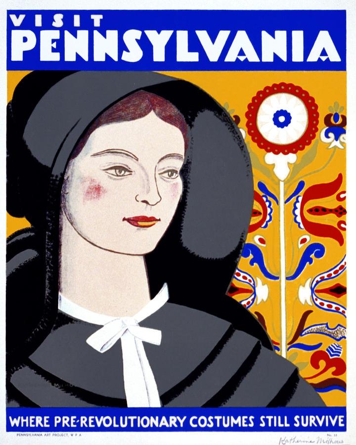 Pennsylvania Digital Art - Visit Pennsylvania by Georgia Fowler