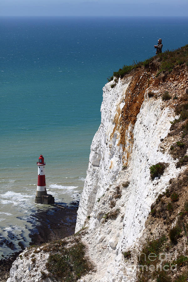 England Photograph - Visiting Beachy Head by James Brunker