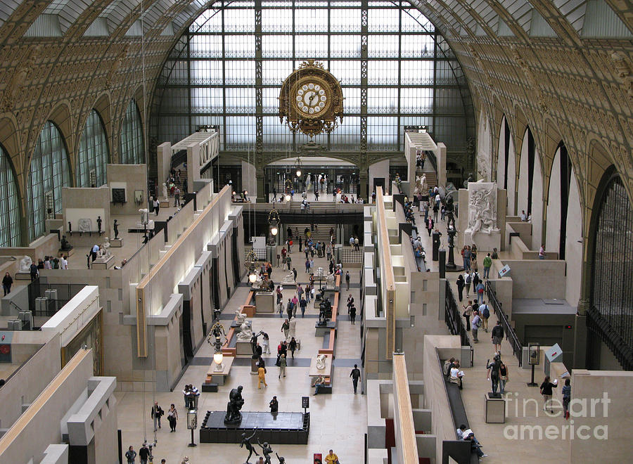 Paris Photograph - Visiting The Musee Dorsay by Ann Horn