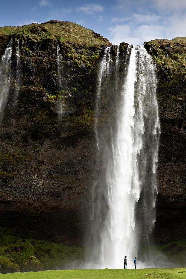 Visitors At Seljalandsfoss Waterfall Photograph by Richard Ianson