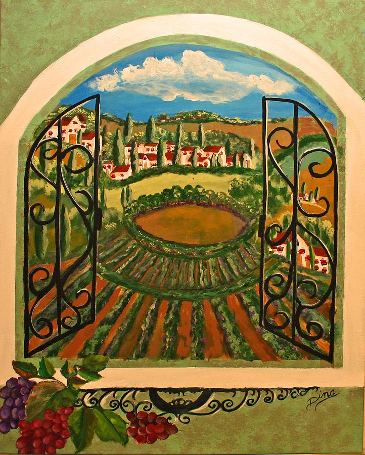 Painting Painting - Vista Dalla Campagna Toscana by Dina Jacobs