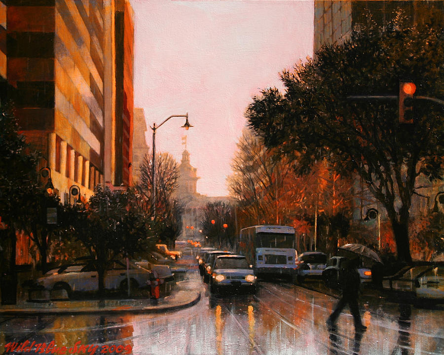 Rain Painting - Vista Drizzle by Blue Sky