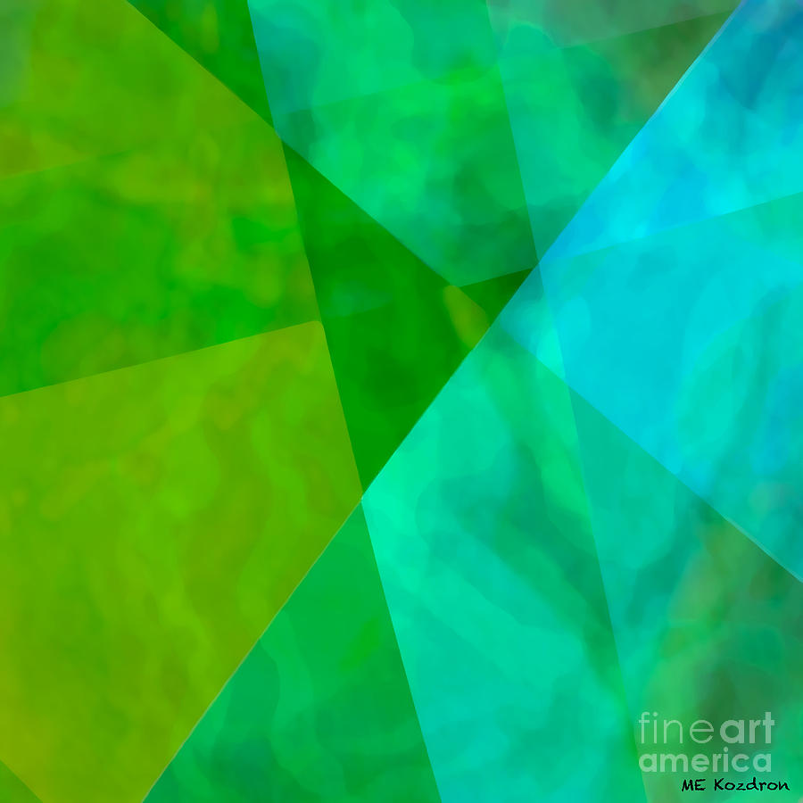 Transparent Digital Art - Vitreosity by ME Kozdron