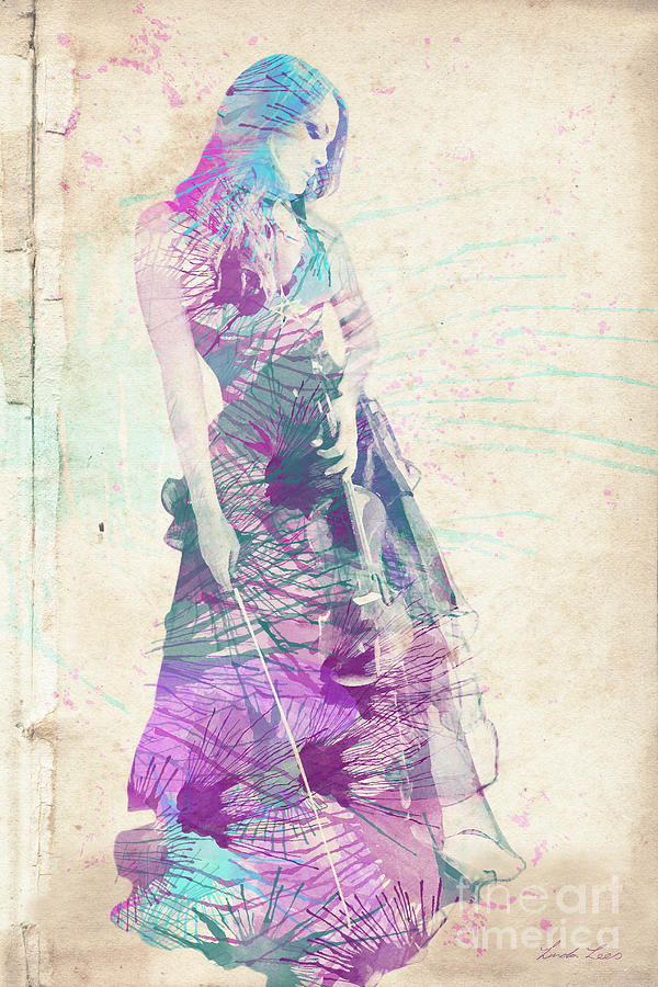 Violin Digital Art - Viva La Vida by Linda Lees