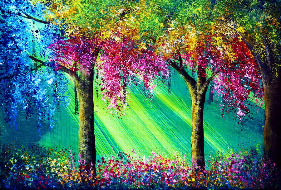 Landscape Painting - Vivacious by Ann Marie Bone