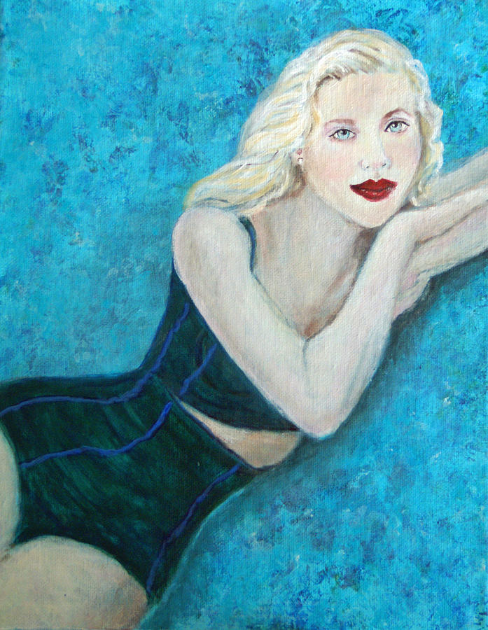 Swimsuit Painting - Vivian Lady Of The Lake by The Art With A Heart By Charlotte Phillips