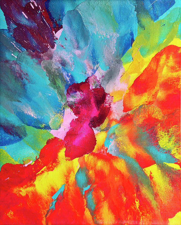 Vivid Multicolored Abstract Art On Digital Art by Cstar55