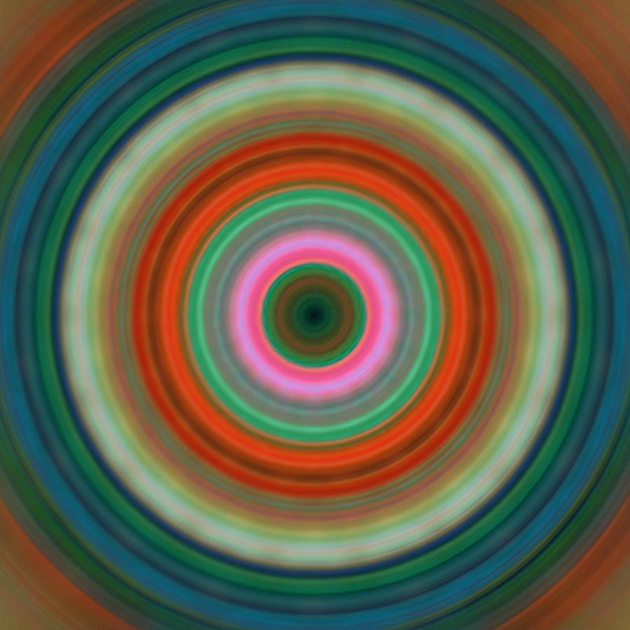 Circles Painting - Vivid Peace - Circle Art By Sharon Cummings by Sharon Cummings