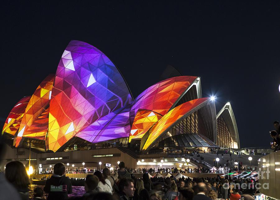 Sydney Opera House Photograph - Vivid Sydney Opera House by Sheila Smart Fine Art Photography
