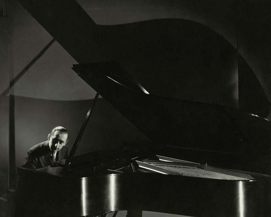 Vladimir Horowitz At A Grand Piano Photograph by Edward Steichen