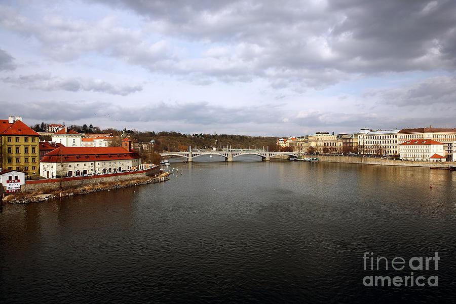 Vltava River View Photograph - Vltava River View by John Rizzuto