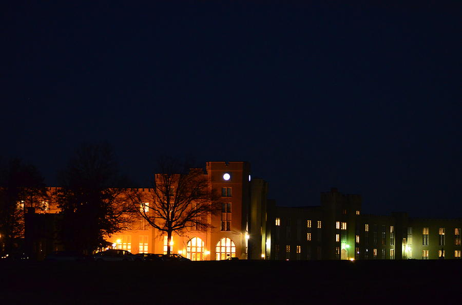 Wmi Photograph - Vmi Night Lights by Cathy Shiflett