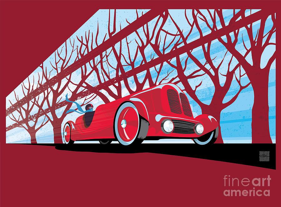 Vintage Racer Painting - Vntage Racer by Sassan Filsoof
