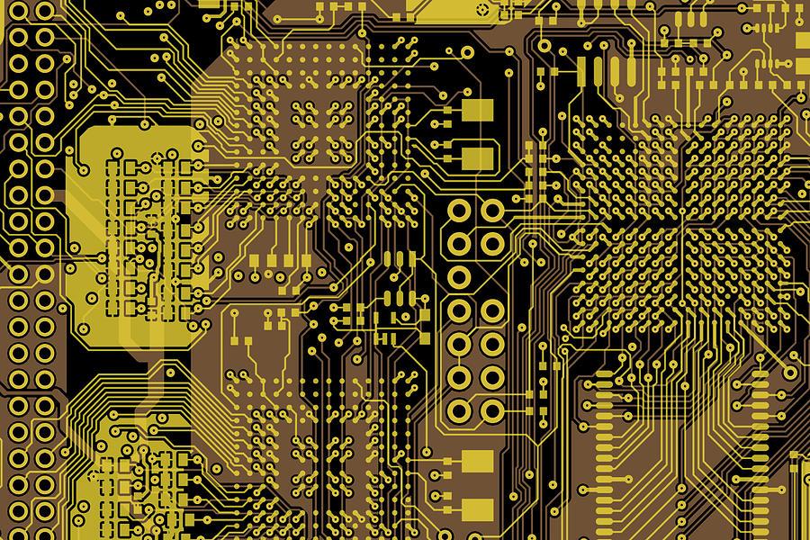 Circuit Digital Art - Vo96 Circuit 5 by Paul Vo
