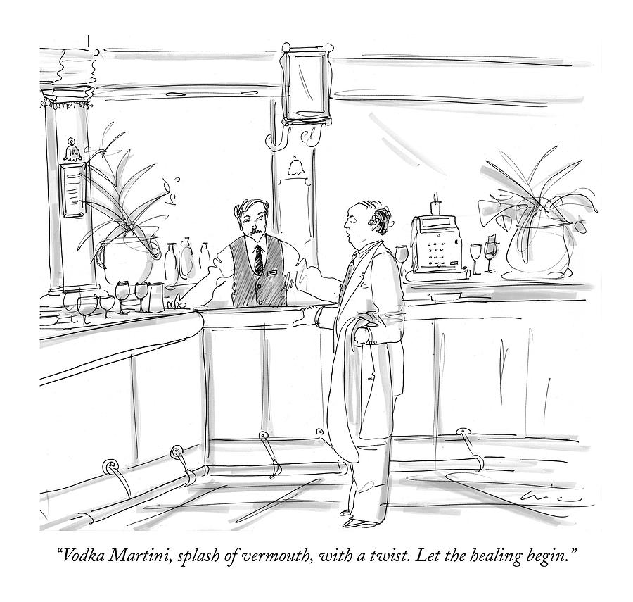 Vodka Martini Drawing by Richard Cline