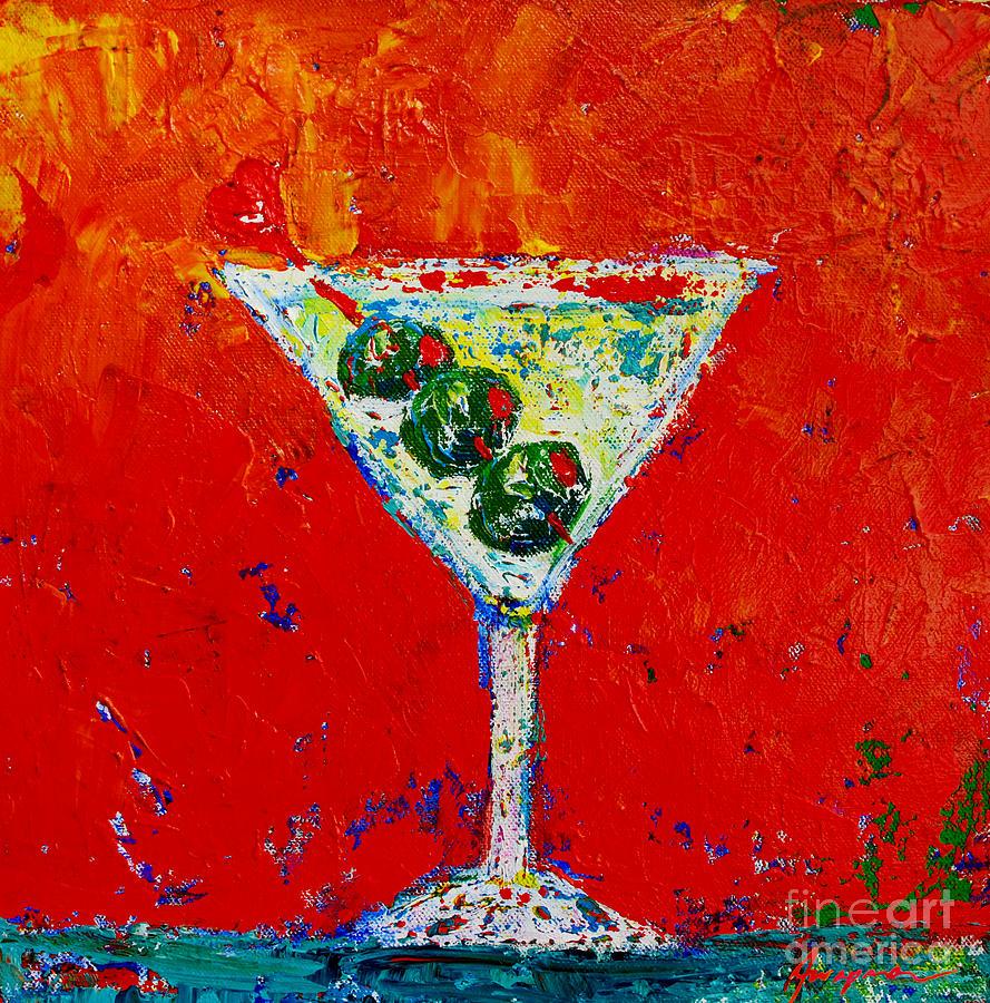 Shaken Not Stirred Painting - Vodka Martini Shaken Not Stirred - Martini Lovers - Modern Art by Patricia Awapara