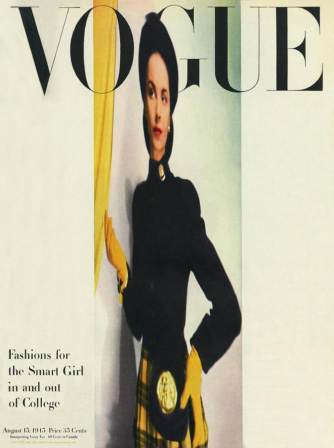 Vogue Cover Featuring A Distorted Image Photograph by Erwin Blumenfeld