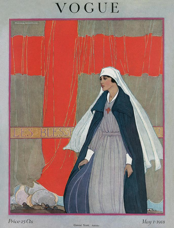 Vogue Cover Featuring A Nurse Photograph by Porter Woodruff