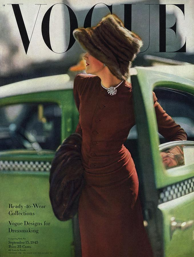 Vogue Cover Featuring A Woman Getting Photograph by Constantin Joffe