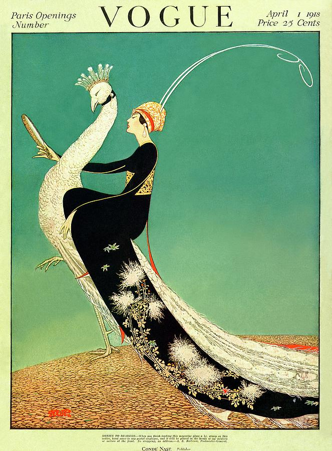 Vogue Cover Featuring A Woman Sitting On A Giant Photograph by George Wolfe Plank