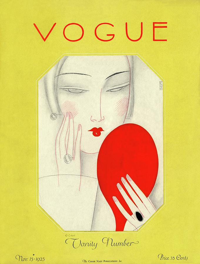 Vogue Cover Featuring A Woman With A Mirror Photograph by Eduardo Garcia Benito