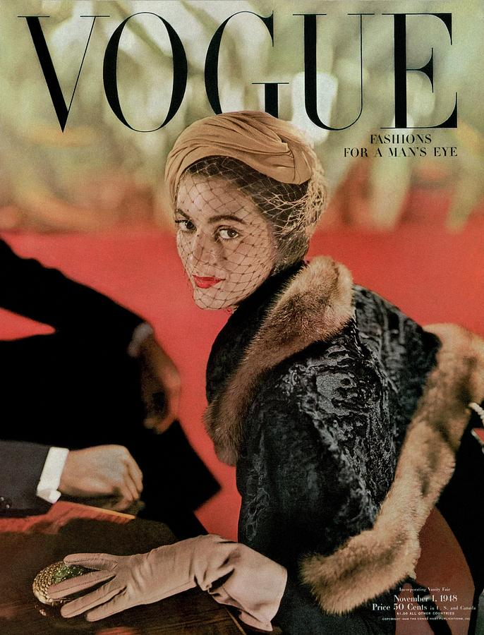 Vogue Cover Featuring Carmen Dellorefice Photograph by John Rawlings