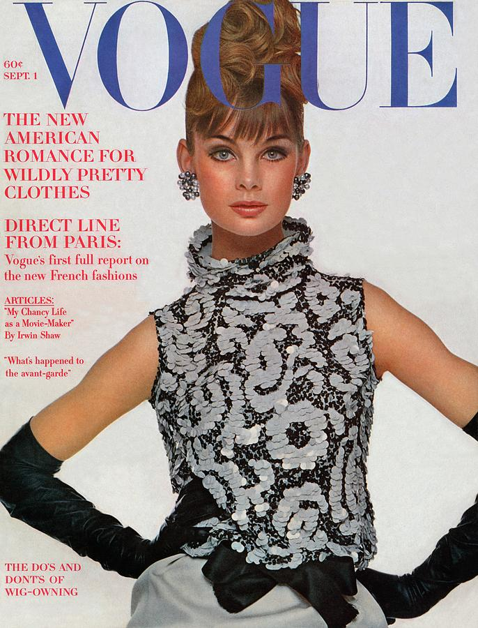 Vogue Cover Featuring Jean Shrimpton Photograph by Bert Stern
