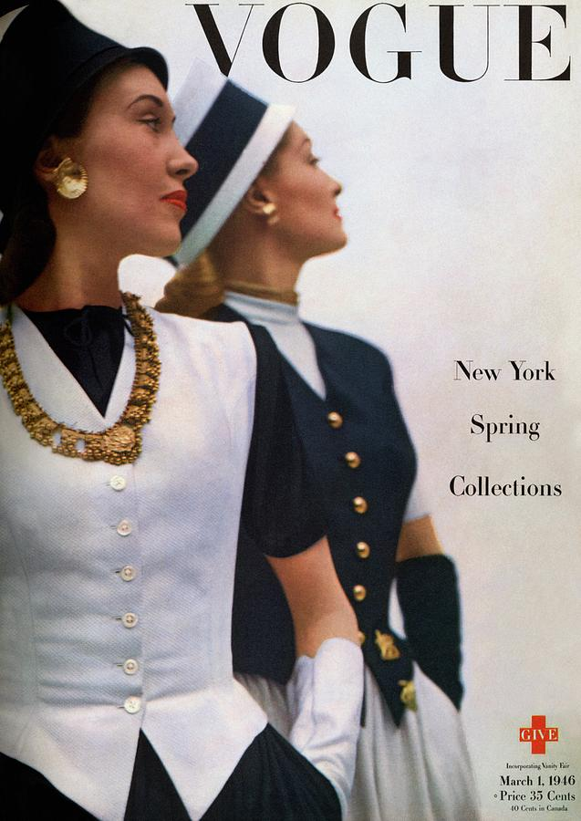 Vogue Cover Featuring Jean Sinclair Photograph by John Rawlings