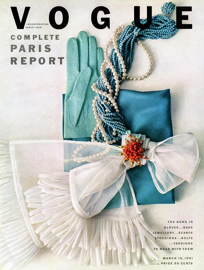 Vogue Cover Featuring Various Accessories Photograph by Richard Rutledge