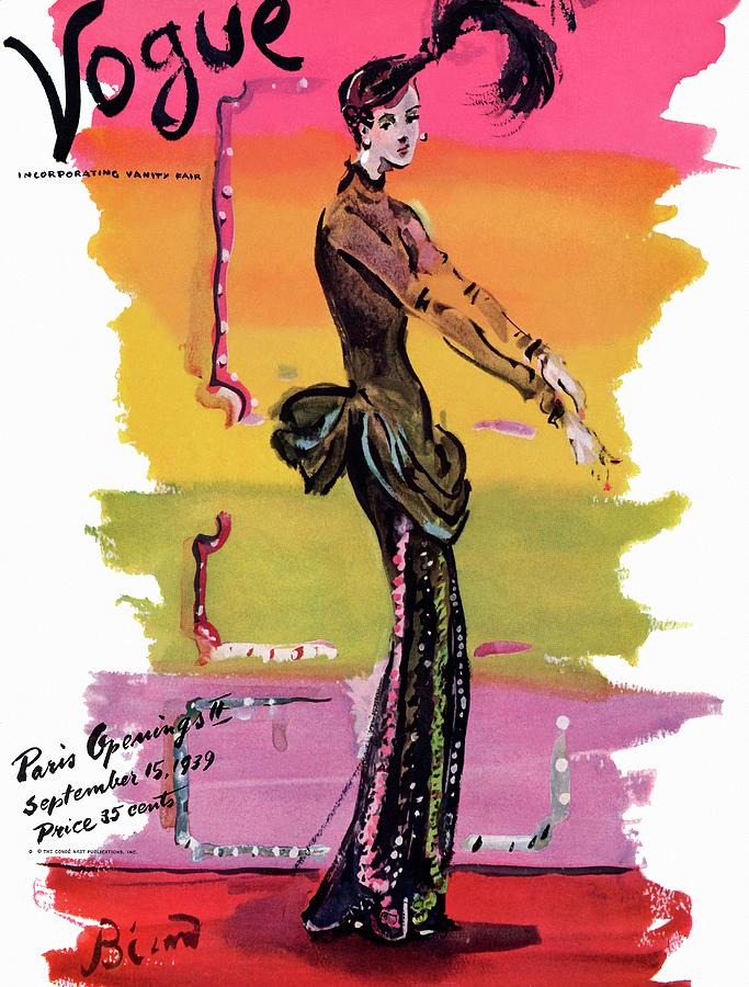 Vogue Cover Illustration Painting by Christian Berard