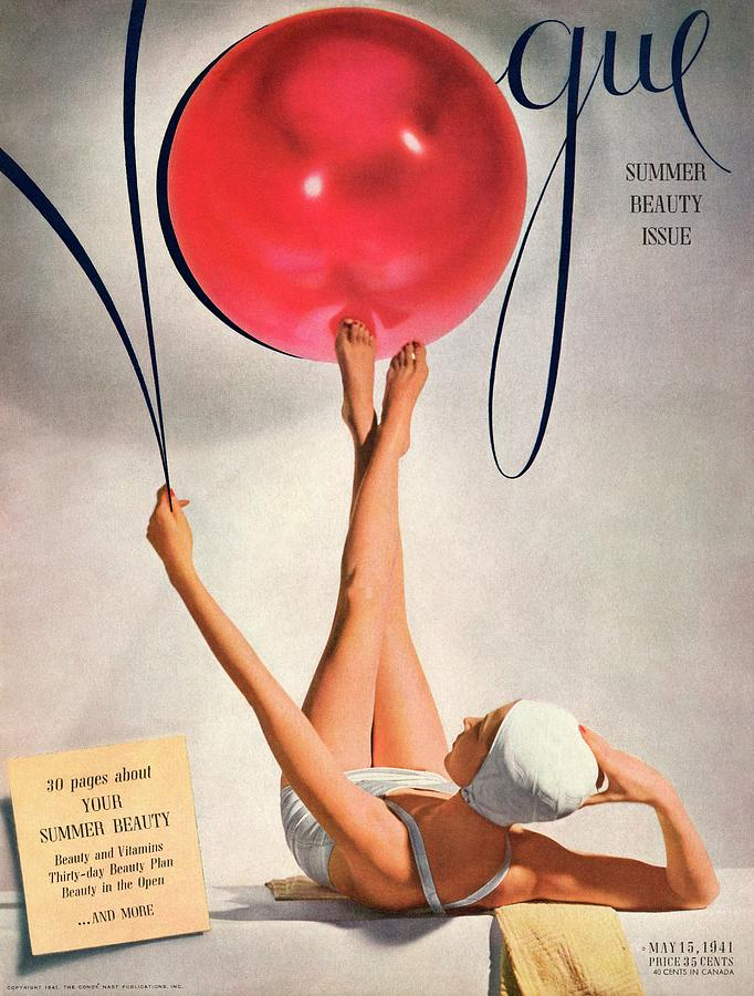 Vogue Cover Illustration Of A Woman Balancing Photograph by Horst P Horst