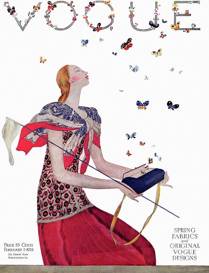 Vogue Cover Illustration Of A Woman Releasing Digital Art by Eduardo Garcia Benito