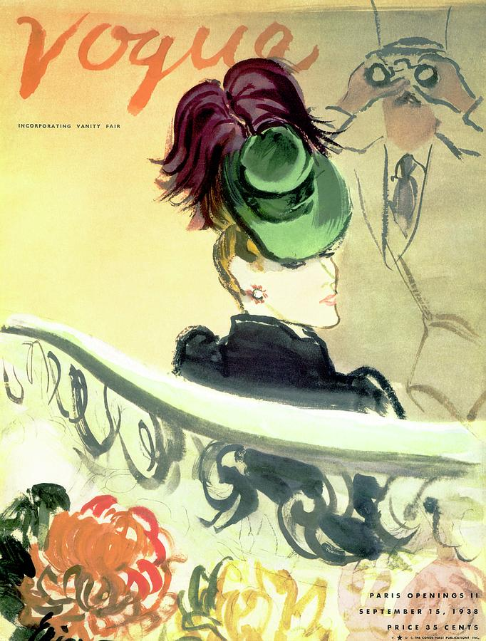 Vogue Cover Illustration Of A Woman Wearing Photograph by Carl Oscar August Erickson