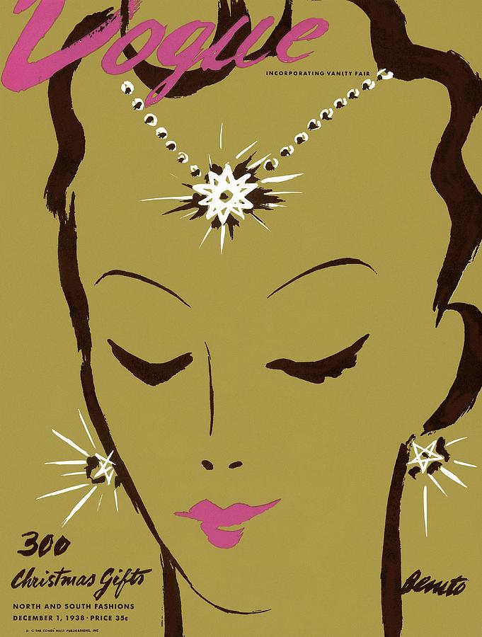 Vogue Cover Illustration Of A Woman Wearing Star Photograph by Eduardo Garcia Benito
