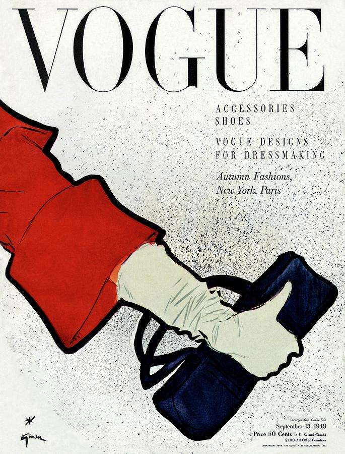 Vogue Cover Illustration Of A Womans Arm Holding Photograph by Rene Gruau
