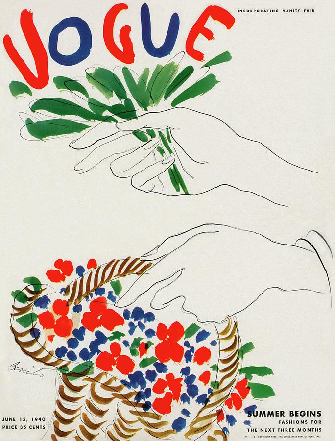 Vogue Cover Illustration Of Hands Holding Photograph by Eduardo Garcia Benito