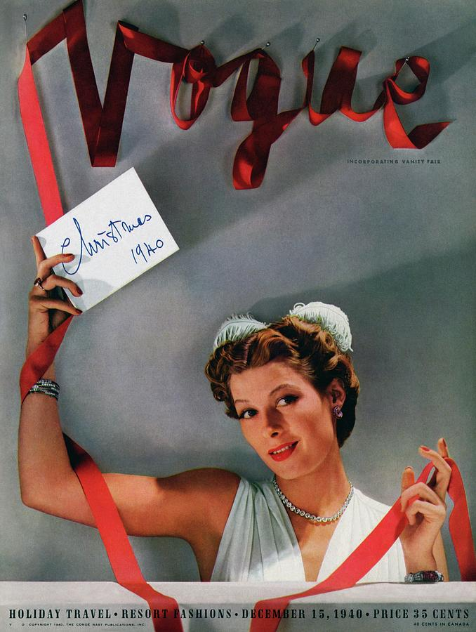 Vogue Cover Of Helen Bennett Wearing Tiffany & Photograph by John Rawlings